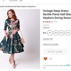 8f3c59ad906 the pretty dress company Dresses - Pretty Dress Co Hepburn Swing Dress UK16